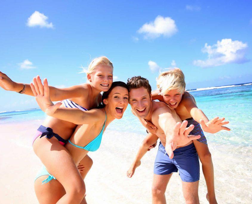 Family on the beach Costa Blanca North Alicante Spain