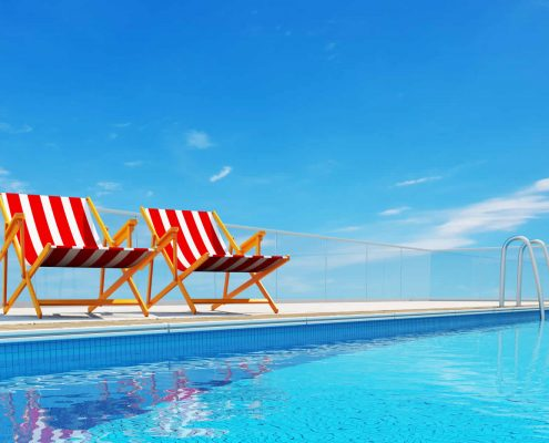 Relaxing by the pool Costa Blanca North Alicante Spain